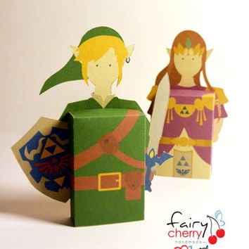 Zelda Link emotibox - Customized geek paper box for season greetings, birthday wishes, expressing emotions, video game greetings