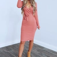 Going Along Dress: Rouge