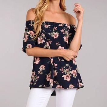 Mojo Off Shoulder Blouse by Blu Pepper