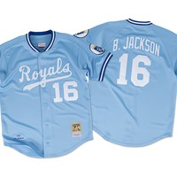 Bo Jackson 1987 Authentic Jersey Kansas City Royals Mitchell & Ness Nostalgia Co.