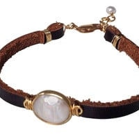 Brea Single Leather Wrap