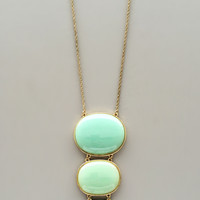 Triple Mint Pendant Necklace