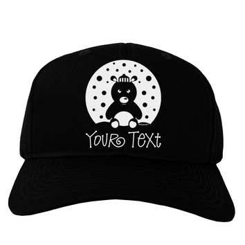 Personalized Matching Polar Bear Family Design - Your Text Adult Dark Baseball Cap Hat