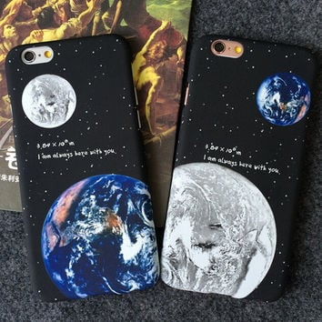 Earth Moon iPhone 5se 5s 6 6s Plus Case Cover Gift 300
