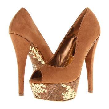 Two Lips Enthrall Sequin Suede Pumps