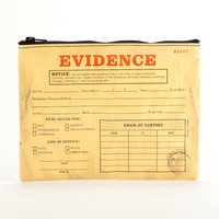 Evidence Zipper Cosmetics Money Pouch  Bag