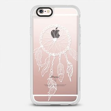 WHITE DREAMCATCHER - CRYSTAL CLEAR PHONE CASE iPhone 6s case by Nika Martinez | Casetify