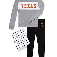 University of Texas Colorblock Crew & Legging Gift Set - PINK - Victoria's Secret