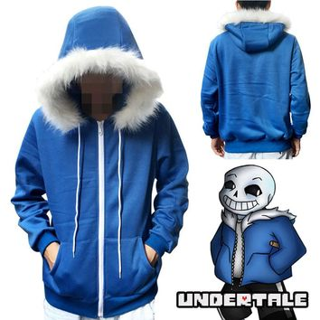 New Game Undertale My Skeleton Sans Papyrus Hoodie Coat Cosplay Costume Warm Zipper Winner Sweatshirt hoody jacket