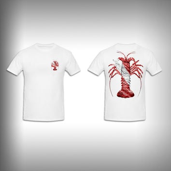 Unisex Short Sleeve Tshirt Custom Full Color Graphics - Spiny Lobster Dive
