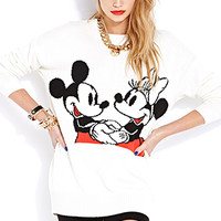 Smiling Mickey and Minnie Sweater
