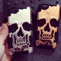 Punk skeleton phone case (Removableï¼?for iphone 5 5s SE 6 6s 6 plus 6s plus + Nice gift box 072702