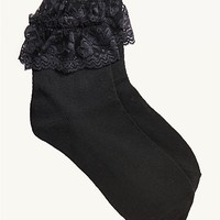 Lace Ruffle Retro Socks