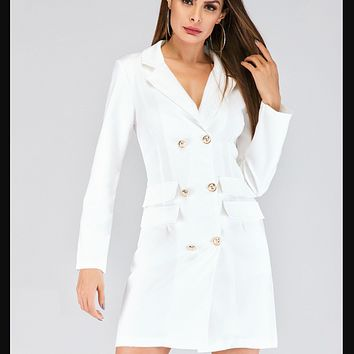 Women's clothing is a hot seller in double-breasted blazer dresses