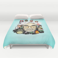 Ghibli, Hayao Miyazaki and friends Duvet Cover by Monsterscollide
