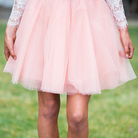 On Pointe Tulle Skirt Pink