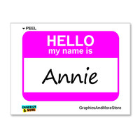 Annie Hello My Name Is Sticker