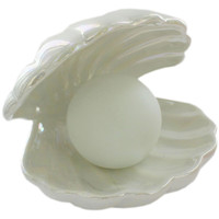 Pearlescent Mermaid Ceramic Clam Light | Gifts - New In! at The Works
