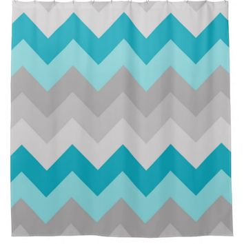 Shop Grey And Blue Shower Curtains on Wanelo