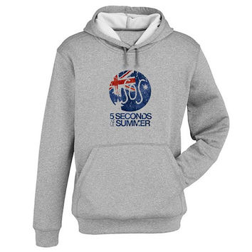 5 sos Hoodie Sweatshirt Sweater Shirt Gray and beauty variant color for Unisex size