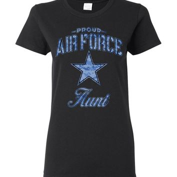 Proud Air Force Aunt Women's T-Shirt (Camo)