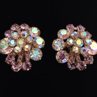 Exquisite Pink & Aurora Borealis Rhinestone by HuntingDragons