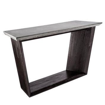 GLANCE GREY CONCRETE TOP WITH ACACIA WOOD BASE CONSOLE TABLE