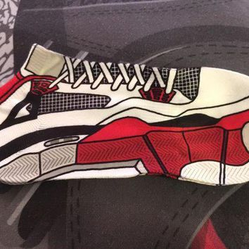 PEAP91W Air Jordan Retro 4 'Fire Red' Socks