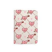 Cute Hearts Passport Holder - Leather Passport Cover - Travel Accessory- Travel Wallet for Women and Men_LOKISHOP