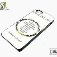 Pierce The Veil Song Lyrics iPhone 5s Case Cover by Avallen