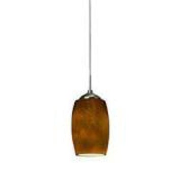 AFX KEPL45027AMSN Kenwood Satin Nickel Hand Blown Case Glass One-Light LED Mini Pendant