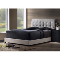 Hillsdale Furniture 1283BFR Lusso Full Bed Set with White Faux Leather Fabric