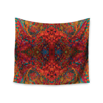 "Nikposium ""Red Sea"" Orange Abstract Wall Tapestry"
