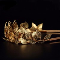 Greek Goddess Leaf Crown