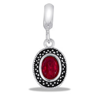 DaVinci Beads July Dangle Oval Red Jewelry