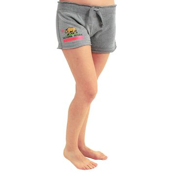 California State Flag Women's Fleece Shorts Graphite