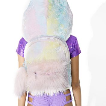 Part Time Unicorn Hooded Backpack