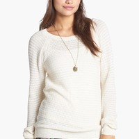 Rubbish® Open Knit Sweater (Juniors) | Nordstrom