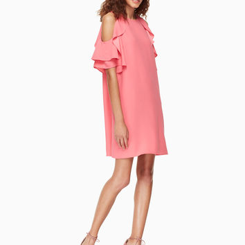 cold shoulder crepe dress | Kate Spade New York