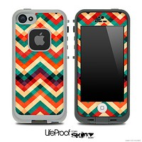 Colorful Abstract Chevron Pattern Skin for the iPhone 5 or 4/4s LifeProof Case