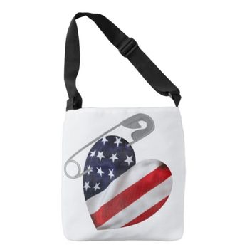 American Safety Pin Tote Bag
