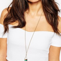 ASOS Color Dipped Shard Long Pendant Necklace