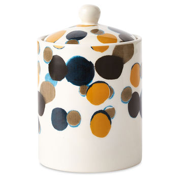 15.5 oz Spotty Jar Candle, Driftwood, Filled Candles
