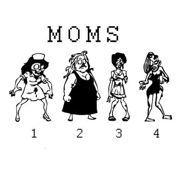 Zombie Stick Figure Family Of Moms And Kids Car Stickers Covering The Body Of Fashion Vinyl Decals Black/Silver C7-1386