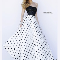 Sherri Hill Full Polka Dot Skirt Prom Gown 32186