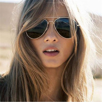 Fashion Unisex Aviator Sunglasses Women Brand Designer Mirror Sunglass Women Men Sun Glasses For Female Driving Glasses Eyewear