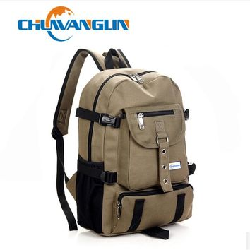 Men's Casual Backpack made from Durable Canvas