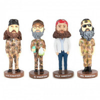 NEW! Authentic Duck Commander Buck Duck Dynasty Bobbleheads Si Jase Phil Willie