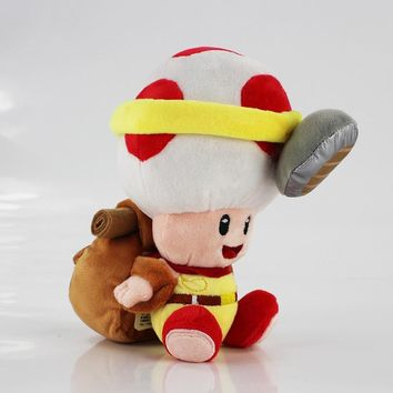 Super Mario party nes switch 1pc 19cm  Bros Mushroom Toad Plush Toys Captain Toad Treasure Tracker Soft Stuffed Toys Kids Gift AT_80_8