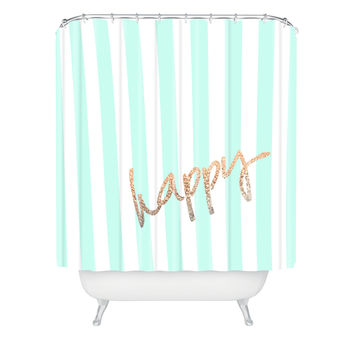 Monika Strigel Pretty Happy Mint Shower Curtain